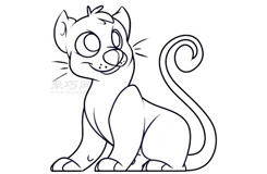 幼兒簡筆畫豹子的畫法 教你如何畫豹子簡筆畫
