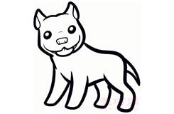 儿童简笔画斗牛犬的画法 教你怎么画斗牛犬简笔画