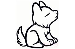 簡筆畫小狼崽的畫法 教你如何畫小狼崽簡筆畫