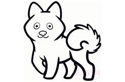 幼儿简笔画博美狗的画法 教你如何画博美狗简笔画