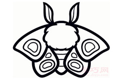简笔画飞蛾的画法 教你怎么画飞蛾简笔画