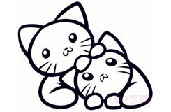 简易画小猫的步骤 画小猫的简笔画图片