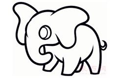 簡易畫幼兒大象的步驟 畫幼兒大象的簡筆畫圖片