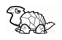 兒童簡筆畫海龜的畫法 教你如何畫海龜簡筆畫