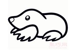儿童简笔画鼹鼠的画法 教你如何画鼹鼠简笔画