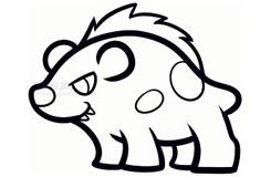 儿童简笔画鬣狗的画法 教你如何画鬣狗简笔画