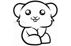 幼兒簡筆畫倉鼠的畫法 教你如何畫倉鼠簡筆畫
