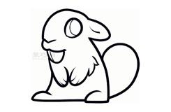 儿童简笔画海狸的画法 教你如何画海狸简笔画
