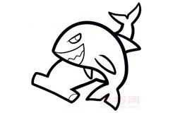 幼兒簡筆畫大鯊魚的畫法 教你如何畫大鯊魚簡筆畫