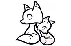兒童簡筆畫狐貍的畫法 教你如何畫狐貍簡筆畫