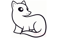 儿童简笔画雪貂的画法 教你如何画雪貂简笔画