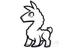 兒童簡筆畫羊駝的畫法 教你如何畫羊駝簡筆畫