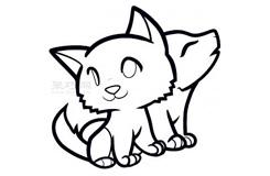 简笔画小猫和小狗的画法