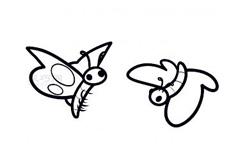 簡易畫兩只蝴蝶的步驟 畫兩只蝴蝶的簡筆畫圖片