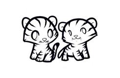 兒童簡筆畫小老虎的畫法 教你如何畫小老虎簡筆畫