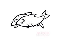 簡易畫海豚的步驟 畫海豚的簡筆畫圖片