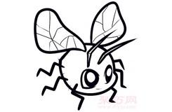 简笔画飞虫的画法 教你怎么画飞虫简笔画