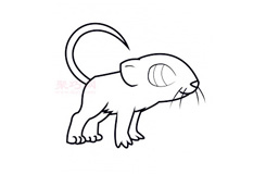 兒童簡筆畫老鼠的畫法 教你如何畫老鼠簡筆畫