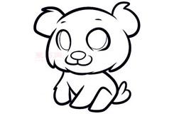 儿童简笔画小狗崽的画法 教你如何画小狗崽简笔画