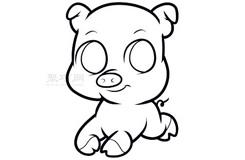 兒童簡筆畫卡通豬的畫法 教你如何畫卡通豬簡筆畫