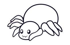 兒童簡筆畫蜘蛛的畫法 教你如何畫蜘蛛簡筆畫