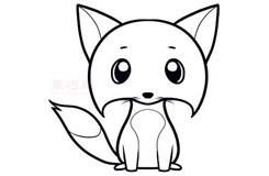 兒童簡筆畫小狐貍的畫法 教你如何畫小狐貍簡筆畫