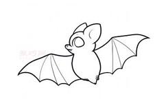 簡易畫兒童蝙蝠的步驟 畫兒童蝙蝠的簡筆畫圖片
