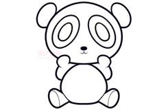 简易画熊猫的步骤 画熊猫的简笔画图片