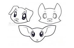 兒童簡筆畫小狗頭的畫法 教你如何畫小狗頭簡筆畫