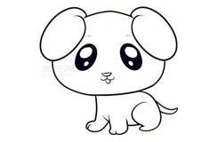 儿童简笔画小狗的画法 教你如何画小狗简笔画