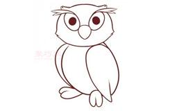 简易画猫头鹰的步骤 画猫头鹰的简笔画图片