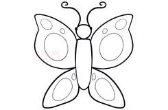 兒童簡筆畫蝴蝶的畫法 教你如何畫蝴蝶簡筆畫