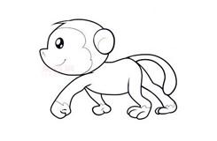 兒童簡筆畫小猴子的畫法 教你如何畫小猴子簡筆畫