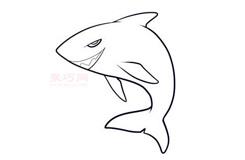 幼兒簡筆畫鯊魚的畫法 教你怎樣畫鯊魚簡筆畫