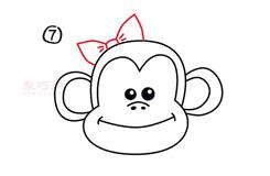 幼儿简笔画大嘴猴头像的画法 教你如何画大嘴猴头像简笔画