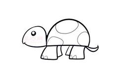 兒童簡筆畫幼兒小烏龜的畫法 教你如何畫幼兒小烏龜簡筆畫