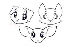 兒童簡筆畫動物頭的畫法 教你如何畫動物頭簡筆畫