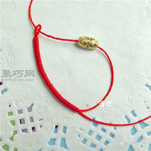 转运珠戒指编法图解教程 用红绳编织戒指的方法