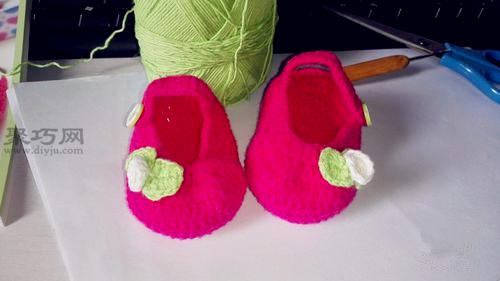 钩织宝宝鞋教程 教你怎么织宝宝的小鞋子