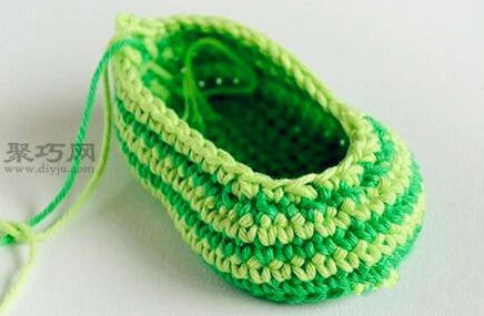 长筒宝宝钩织鞋教程 教你怎么织宝宝毛线鞋