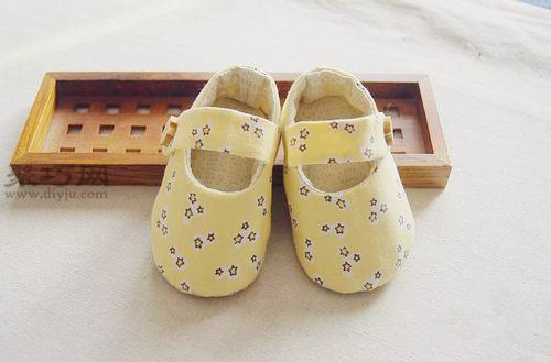布藝手工嬰兒鞋教程教你如何做嬰兒學步鞋