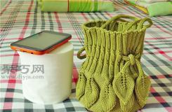 毛線編織包包教程 棒針手工編織手提包圖解