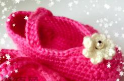 女寶寶毛線鞋鉤織方法 教你怎么織寶寶穿的毛線鞋