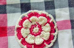 鉤針毛線織花朵圖解教程 教你怎么用毛線織花