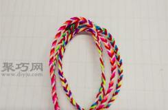 3根線簡單編織手鏈教程 教你如何織手鏈
