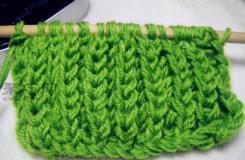 雙元寶針粗毛線織圍巾教程 教你怎么織圍巾起針