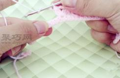 簡單鉤針編織針法:棗形針的鉤法圖解