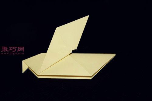 鸽子的折法图解 教你如何手工折纸鸽子图片