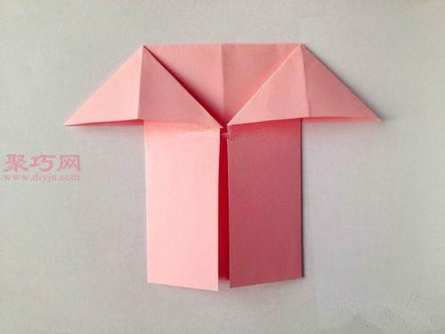 帶翅膀的心的折法圖解 教你怎么折天使心