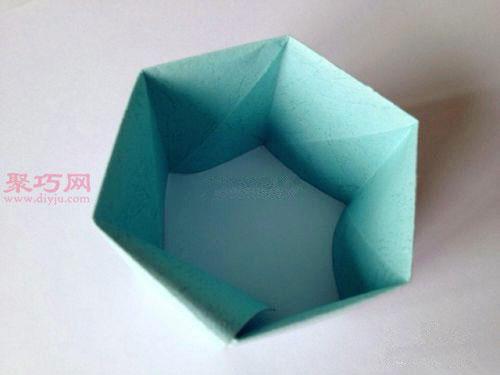 """首页 手工折纸 折纸盒子  折长方形盒子部分: 步骤1,重复""""盒盖的制作"""